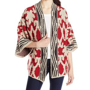 Lucky Brand Sequoia Ornate Draped Sweater Cardigan
